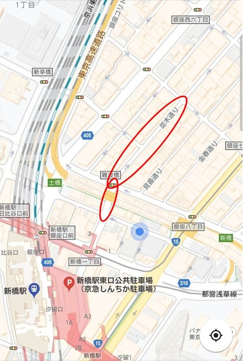 並木通りの地図